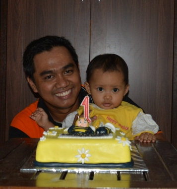 Syifa 1st Birthday with Ayah