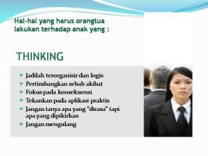 Jika anak saia tipe Thinking juga :D